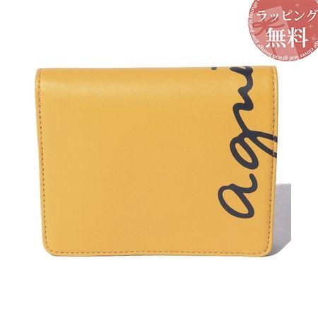 アニエスべー 財布 折財布 レディース ロゴウォレット イエロー agnes b アニエス ベー ボヤージュ