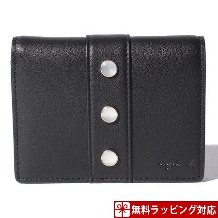アニエスべー 財布 レディース 折財布 プレッションウォレット ブラック agnes b アニエス ベー ボヤージュ