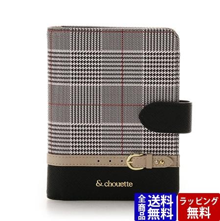 サマンサタバサ カードケース グレンチェックパスポートケース ブラック &chouette アンド シュエット