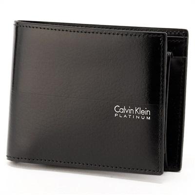 カルバンクライン ヘイズ 二つ折り財布 ブラック