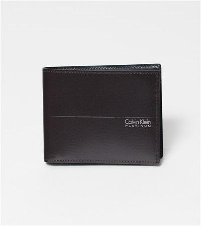 カルバンクライン ヘイズ 二つ折り財布 チョコ