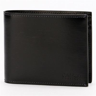 カルバンクライン ヘアライン 二つ折り財布 ブラック Calvin Klein PLATINUM