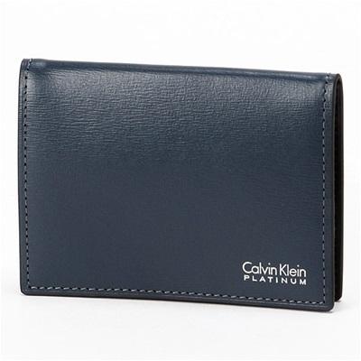 カルバンクライン レジューム 小銭入れ コインケース ネイビー Calvin Klein PLATINUM