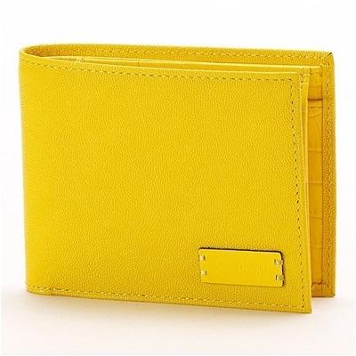 カルバンクライン セイム 二つ折り財布 イエロー