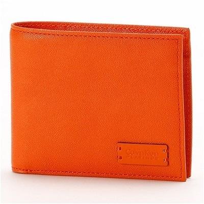 カルバンクライン セイム 二つ折り財布 オレンジ