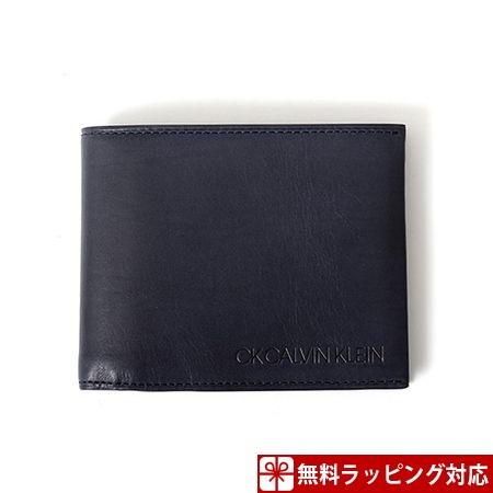 カルバンクライン 財布 メンズ 折財布 ハンク 二つ折り財布 ネイビー CalvinKlein カルバン クライン ck
