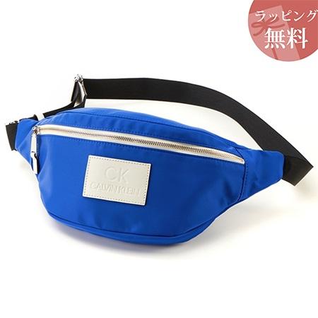 カルバンクライン バッグ メンズ ボディバッグ ウェストポーチ ロゴ ブルー CalvinKlein カルバン クライン ck