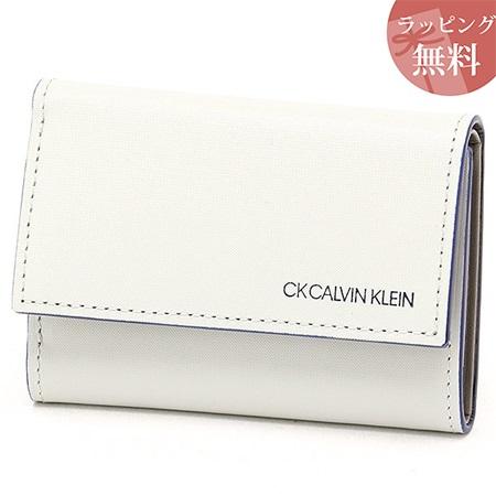 カルバンクライン 財布 メンズ 折財布 三つ折り カードポケット付き ミニカラー グレー CalvinKlein カルバン クライン ck