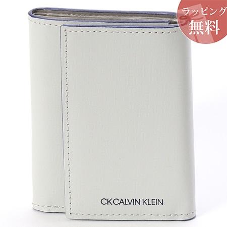 カルバンクライン 財布 メンズ 折財布 三つ折り 小銭入れBOX型 ミニカラー グレー CalvinKlein カルバン クライン ck