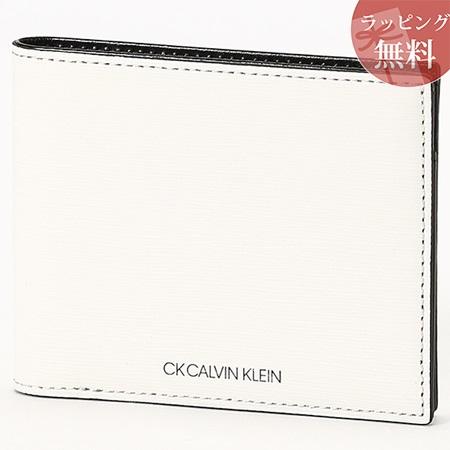 カルバンクライン 財布 メンズ 折財布 二つ折り 純札 ニッチ ホワイト CalvinKlein カルバン クライン ck