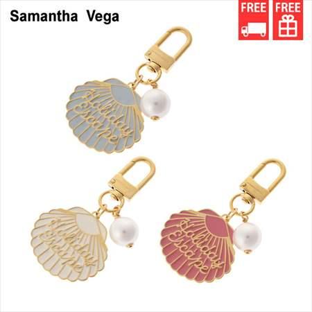 サマンサタバサ 財布 数量は多 バッグ 送料無料 正規品 シェルチャーム チャーム Vega 新品 付与 Samantha