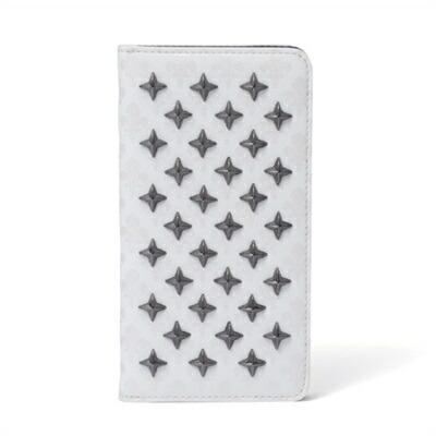 パトリックコックス クロススタッズ iPhone 7/6/6S ケース ホワイト PATRICK COX