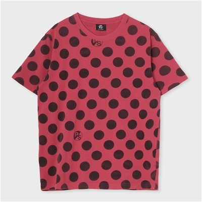 ポールスミス ポルカドットプリントTシャツ ピンク L
