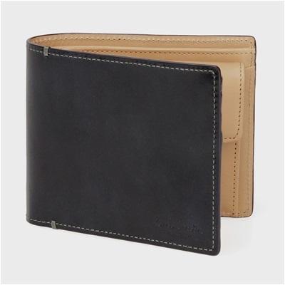 ポールスミス・コレクション PCステインカーフ 二つ折り財布 ブラック