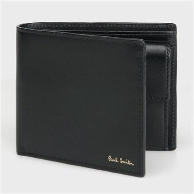 ポールスミス カラーバンド 二つ折り財布 ブラック PaulSmith ポール・スミス