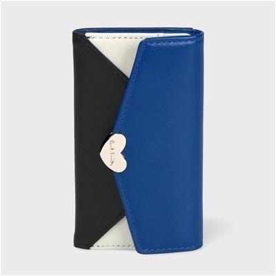 ポールスミス カラーミックスラブレター キーケース ブルー