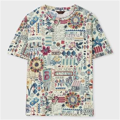ポールスミス・コレクション フェスティバルグラフィック Tシャツ ベージュ XL