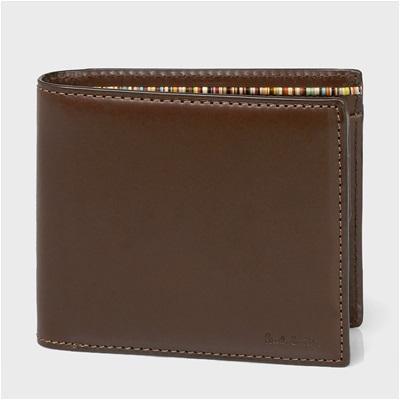 ポールスミス オールドレザー 二つ折り財布 ダークブラウン
