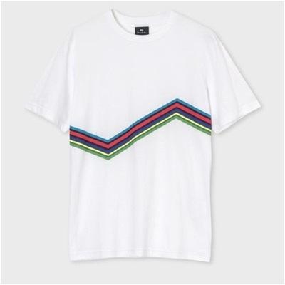 ポールスミス サイクルストライプ Tシャツ S ホワイト