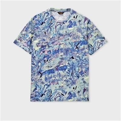 ポールスミス パラダイスプリント Tシャツ ブルー M