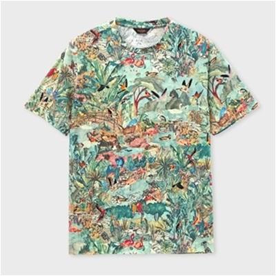 ポールスミス パラダイスプリント Tシャツ グリーン XL