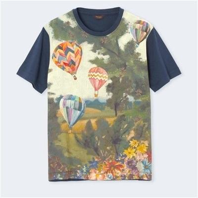 ポールスミス ホットエアバルーンズプリント Tシャツ ネイビー L