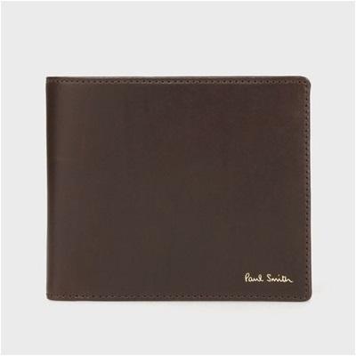 ポールスミス クラシックカーフ2つ折り財布 ダークブラウン
