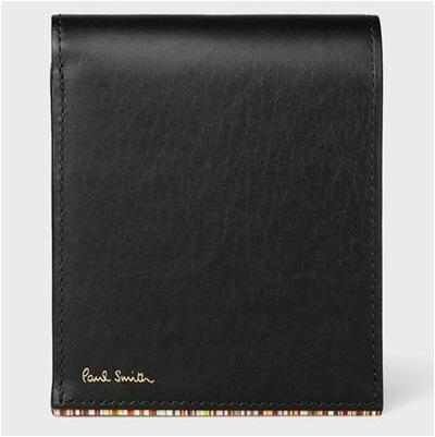 ポールスミス ストライプポイント 2つ折り財布 ブラック