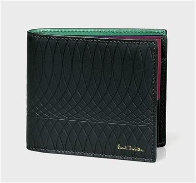 ポールスミス No.9マルチカラーインテリア 2つ折り財布 ブラック PaulSmith ポール・スミス