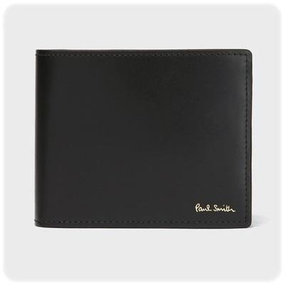 ポールスミス Paul Smith 折財布 カレイドスコープミニ 2つ折り ブラック