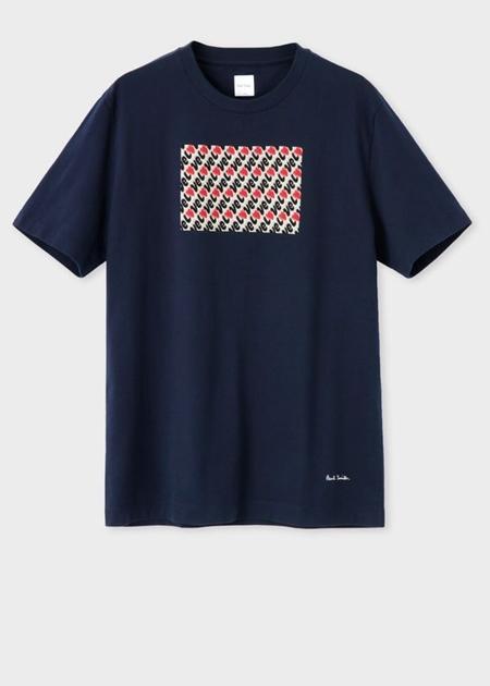 ポールスミス Tシャツ Love Collection プリント ネイビー XXL Paul Smith ポール スミス