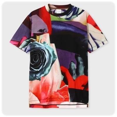 ポールスミス Tシャツ Rose Collage プリント XL PaulSmith ポール・スミス