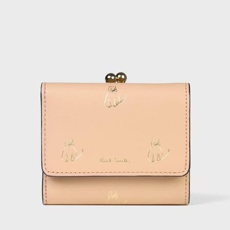 ポールスミス 折財布 キャットドゥードゥル 3つ折り財布 ピンク Paul Smith ポール スミス