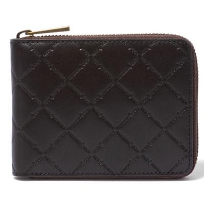 パトリックコックス 折財布 LOGO EMBOSS ラウンドファスナー二つ折財布 チョコ PATRICK COX パトリック コックス