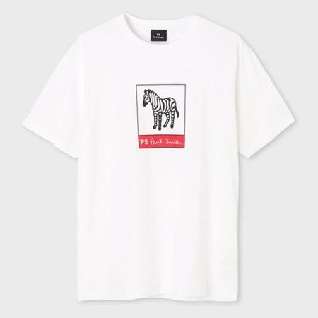 ポールスミス Tシャツ メンズ ゼブラロゴ プリント ホワイト XL Paul Smith ポール スミス