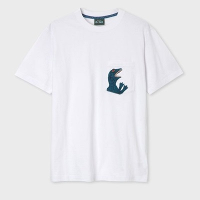 ポールスミス Tシャツ ダイナソー ポケット ホワイト XL Paul Smith ポール スミス