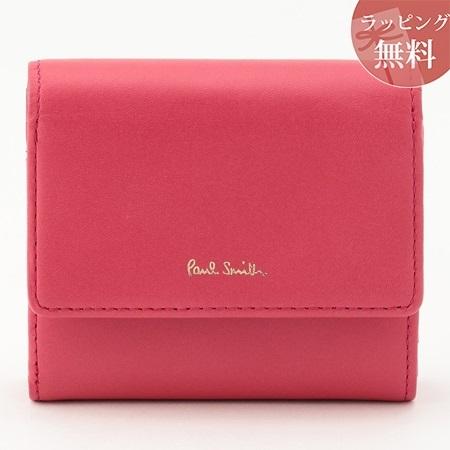 ポールスミス 財布 折財布 二つ折り クラシックレザー ピンク Paul Smith ポール スミス