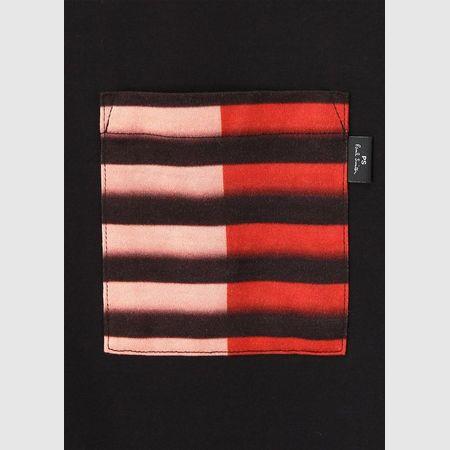 ポールスミス Tシャツ グラデーションポケット ミックスアップ レッド L Paul Smith ポール スミス