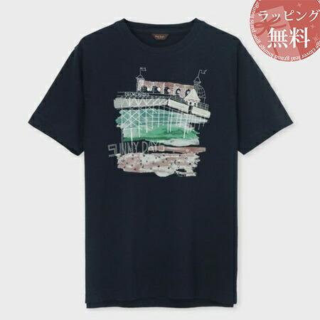 ポールスミス Tシャツ サニーデイズプリント ネイビー XL Paul Smith ポール スミス