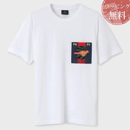 ポールスミス Tシャツ Live Faster ポケットプリント ホワイト L Paul Smith