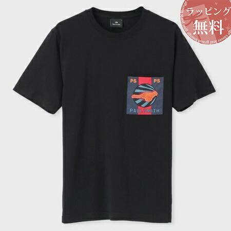 ポールスミス Tシャツ Live Faster ポケットプリント ブラック L Paul Smith
