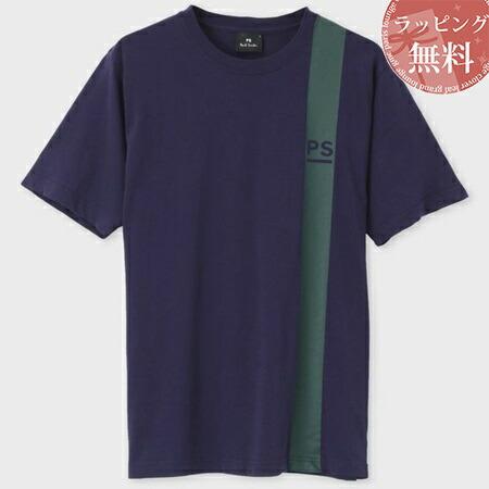 ポールスミス Tシャツ PSロゴ&ラインプリント パープル S Paul Smith