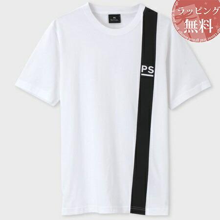 ポールスミス Tシャツ PSロゴ&ラインプリント ホワイト XXL Paul Smith