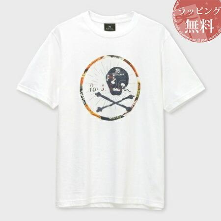 ポールスミス Tシャツ Skull wheel プリント ホワイト XL Paul Smith