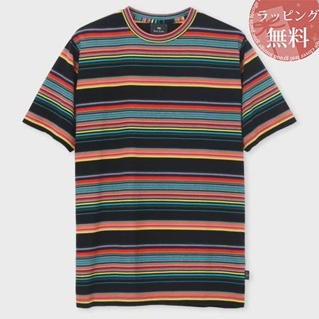 ポールスミス Tシャツ メンズ African Flag マルチボーダー 001 S Paul Smith