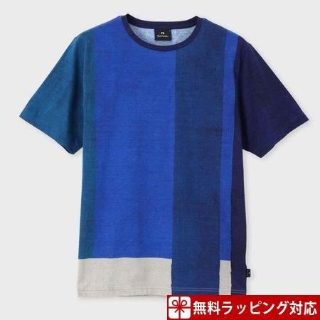ポールスミス Tシャツ メンズ African Flag プリント ブルー S Paul Smith