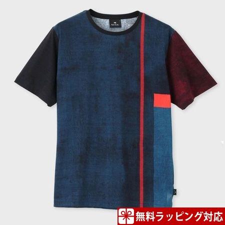 ポールスミス Tシャツ メンズ African Flag プリント ネイビー XL Paul Smith ポール スミス