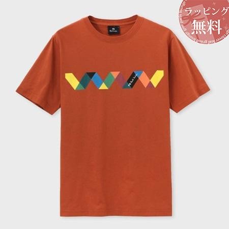 ポールスミス Tシャツ メンズ ジグザグストライプ プリント オレンジ L Paul Smith