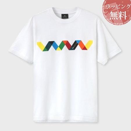 ポールスミス Tシャツ メンズ ジグザグストライプ プリント ホワイト S Paul Smith