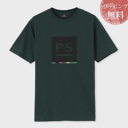 ポールスミス Tシャツ メンズ PS ビッグロゴ プリント グリーン M Paul Smith